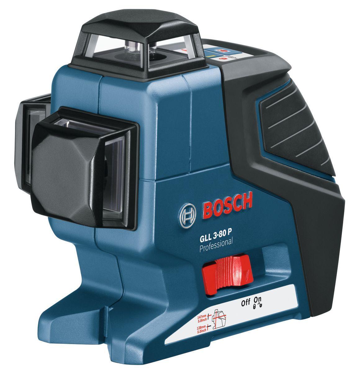 Лазерный нивелир Bosch GLL 3-80 P + BS 150AF-3401Технические характеристики Рабочая температура -10 - 40 °C Температура хранения -20 - 70 °C Класс лазера 2 Время нивелирования 4 с Соединительная резьба штатива 1/4, 5/8 Вес 0,76 кг Комплектация: Строительный штатив BS 150 Professional 0 601 096 974 Лазерный отражатель Вкладыш для кейса L-BOXX под инструмент Чехол 4 батареи AA 1,5 В LR6