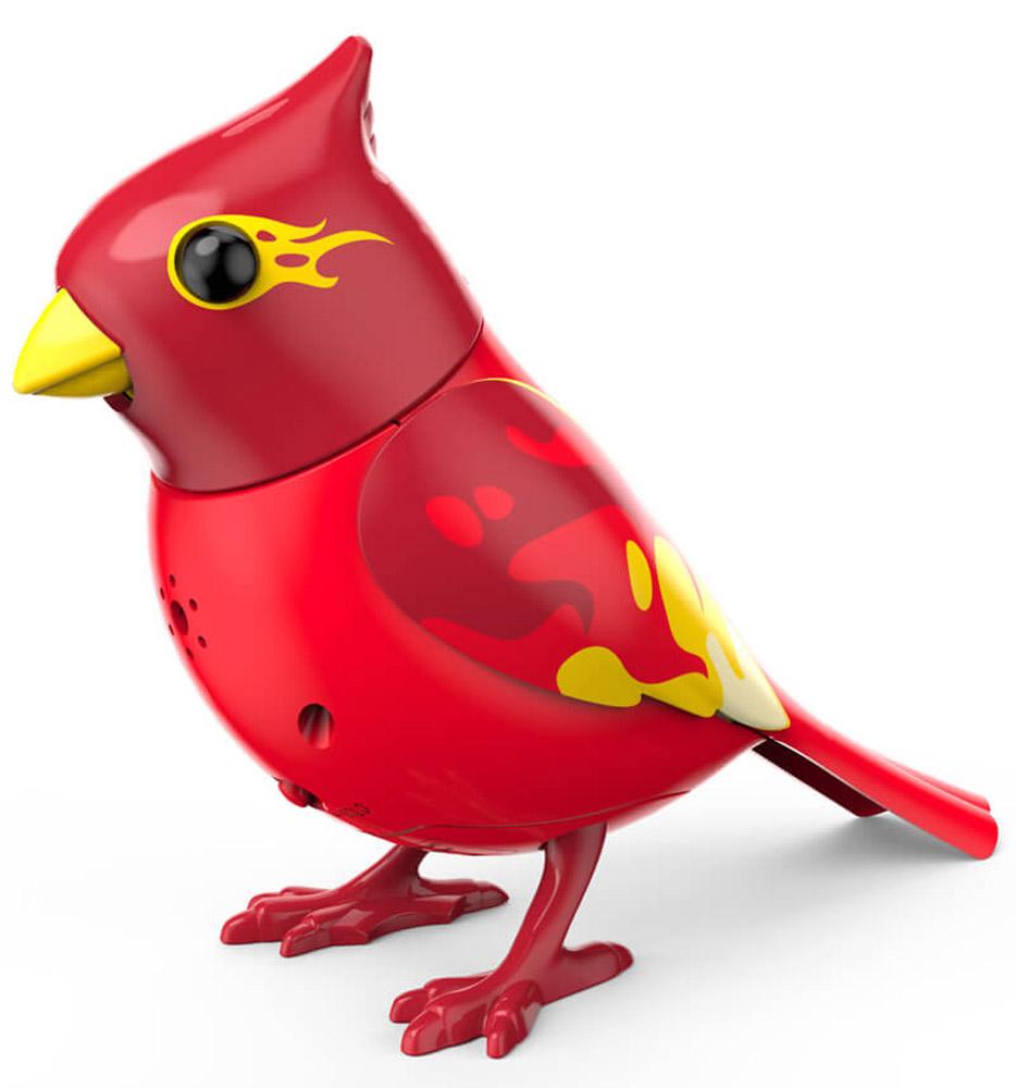 DigiFriends Интерактивная игрушка Птичка с кольцом цвет красный желтый88286_красный, желтыйУ вас есть шанс получить уникального домашнего питомца - поющую птичку. Не каждый может похвастаться этим. Эта умная птичка интерактивная, она будет развлекать вас различными мелодиями, пением и ритмичными движениями. Для активизации птички необходимо подуть на нее. Чтобы активировать режим проигрывания мелодий, достаточно посвистеть в свисток, который имеется в комплекте. Игрушка издает 55 вариантов мелодий и звуков. Кольцо-свисток также служит переносным насестом для птички. Ребенок может надеть кольцо на два пальца, закрепить там игрушку и свободно играть, или даже бегать. Птичка DigiFriends устойчива на любой ровной поверхности. Игрушка может поворачивать голову и шевелить клювом в такт мелодии. Игрушка работает в двух режимах: соло и хор. Можно синхронизировать неограниченное количество птичек или других персонажей DigiFriends. Главным в хоре становится персонаж, которого включили первым. Необходимо размещать птичку DigiFriends на расстоянии не более 15 см от...