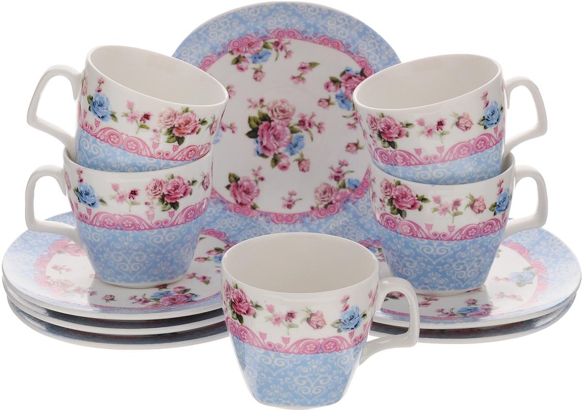 Набор кофейный Loraine Бутон, 12 предметов24756Кофейный набор Loraine Бутон состоит из 6 чашек и 6 блюдец. Изделия выполнены из высококачественного фарфора и оформлены изображением цветов и узоров. Такой набор прекрасно подойдет как для повседневного использования, так и для праздников. Набор Loraine Бутон - это не только яркий и полезный подарок для родных и близких, а также великолепное дизайнерское решение для вашей кухни или столовой. Набор упакован в красивую подарочную коробку. Объем чашки: 80 мл. Диаметр чашки по верхнему краю: 6 см. Высота чашки: 6 см. Размер блюдца по верхнему краю: 12 х 12 см. Высота блюдца: 1,3 см.