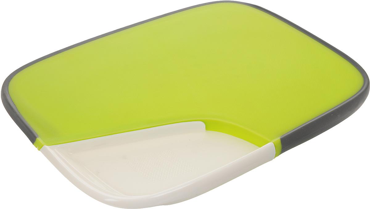 Доска разделочная Mayer & Boch, двухсторонняя, 37 х 28 см24185Двухсторонняя разделочная доска Mayer & Boch выполнена из высококачественного пищевого пластика и оснащена силиконовым нескользящим краем для комфортного использования. С одной стороны ровная поверхность, с другой - специальные зубчики, которые плотно зафиксируют и не дадут куску ветчины или окороку выскользнуть из-под ножа. Также имеется съемная часть, которая позволит нарезать, например, чеснок или имбирь. Такая разделочная доска идеально подходит для нарезки, шинковки и сервировки любых продуктов. Можно мыть в посудомоечной машине. Размер доски: 37 х 28 см. Высота доски: 2,3 см. Размер съемной части: 17,5 х 13,5 х 2,3 см.