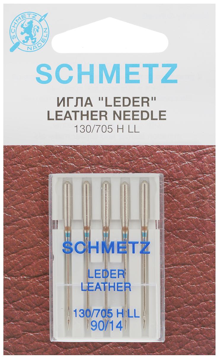 Набор игл для кожи Schmetz Leder, №90, 5 шт22:15.AS2.VDSНабор Schmetz Leder состоит из пяти игл для бытовых швейных машин всех марок. Режущее острие оставляет после прокола аккуратную прорезь. Иглы предназначены для кожи, искусственной кожи и похожих материалов. Не рекомендуется применять для текстильных изделий. Комплектация: 5 шт. Размер игл: №90. Стандарт: 130/705 H LL.