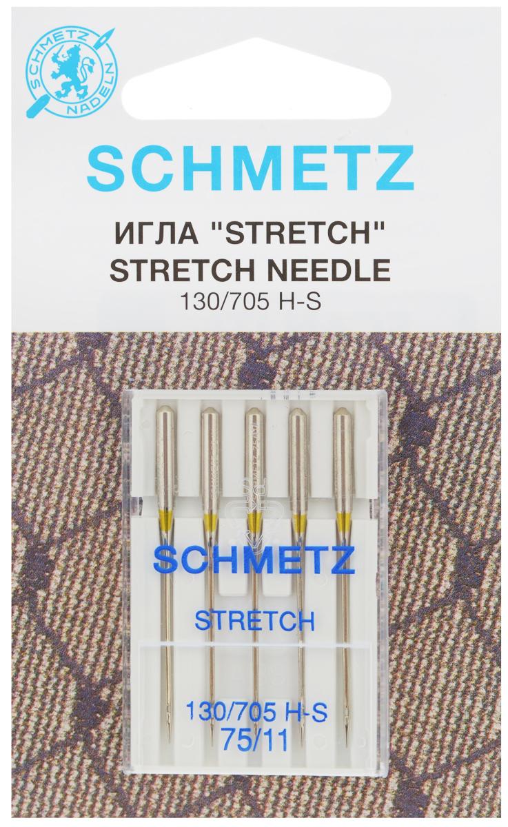 Набор игл Schmetz Stretch, №75, 5 шт22:80.FB2.VMSНабор Schmetz Stretch состоит из пяти игл для большинства бытовых швейных машин. Иглы со средним шарообразным острием, специальной конструкцией ушковой части и выемкой на её стержне. Предназначены для эластичных и высокоэластичных материалов, таких как шёлковый джерси и лайкра. Комплектация: 5 шт. Размер игл: №75. Стандарт: 130/705 H-S.