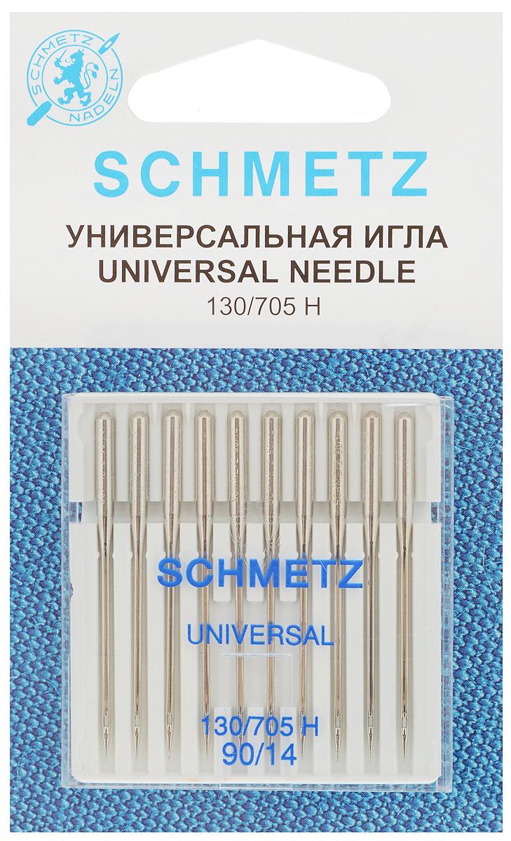 Набор универсальных игл Schmetz, №90, 10 шт22:15.2.XDSНабор Schmetz состоит из десяти универсальных игл для бытовых швейных машин. Иглы имеют слегка закругленное острие. Предназначены для большинства видов текстильных материалов, в том числе джерси, синтетики и других. Комплектация: 10 шт. Размер игл: №90. Стандарт: 130/705 H.