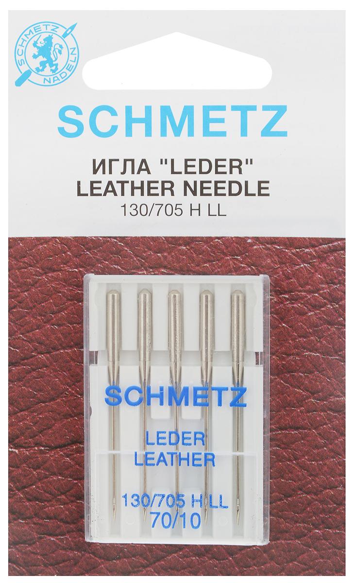 Набор игл для кожи Schmetz Leder, №70, 5 шт22:15.AS2.VBSНабор Schmetz Leder состоит из пяти игл для бытовых швейных машин всех марок. Режущее острие оставляет после прокола аккуратную прорезь. Иглы предназначены для кожи, искусственной кожи и похожих материалов. Не рекомендуется применять для текстильных изделий. Комплектация: 5 шт. Размер игл: №70. Стандарт: 130/705 H LL.