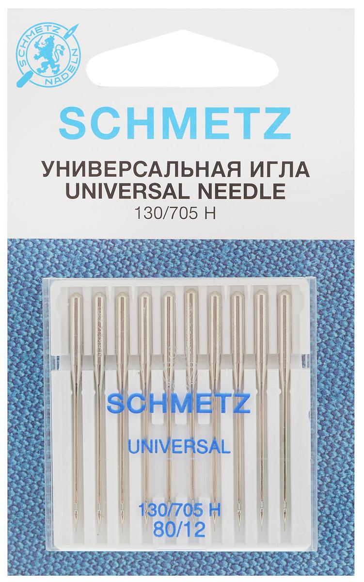 Набор универсальных игл Schmetz, №80, 10 шт22:15.2.XCSНабор Schmetz состоит из десяти универсальных игл для бытовых швейных машин. Иглы имеют слегка закругленное острие. Предназначены для большинства видов текстильных материалов, в том числе джерси, синтетики и других. Комплектация: 10 шт. Размер игл: №80. Стандарт: 130/705 H.