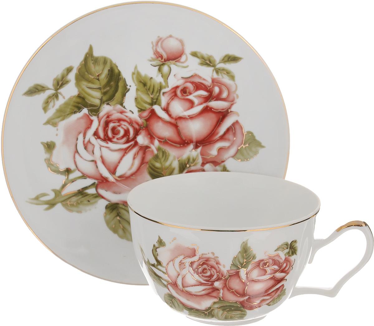 Чайная пара Loraine Цветок, 2 предмета
