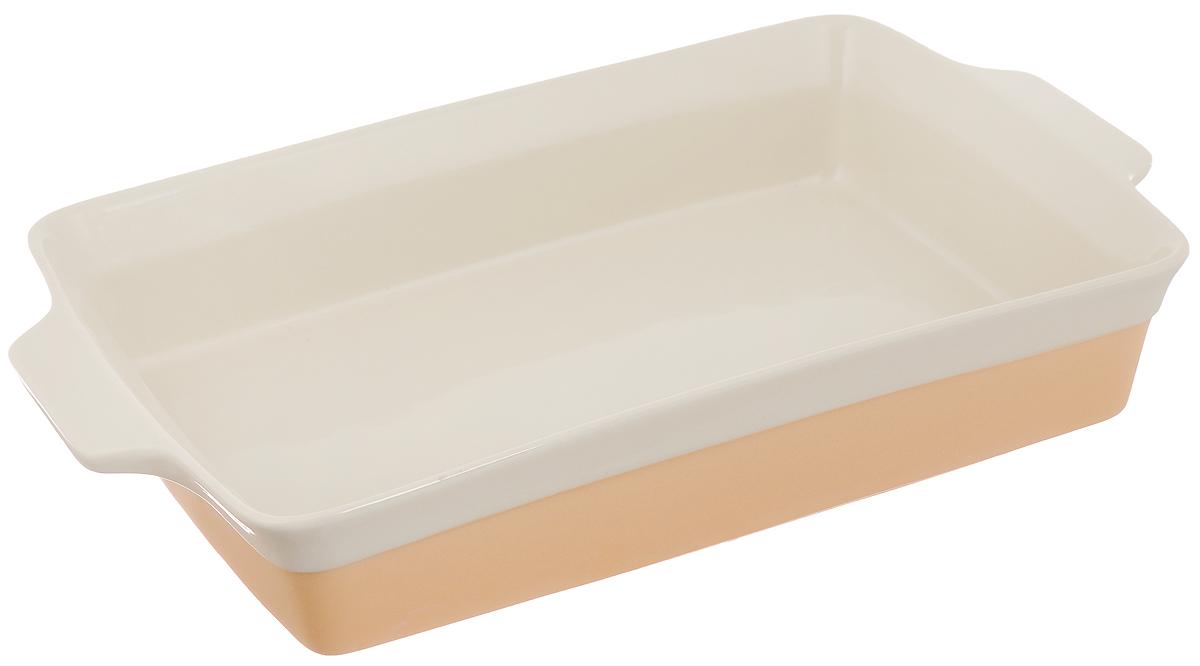 Форма для выпечки Mayer & Boch, прямоугольная, 42,8 х 26,5 х 7,3 см21808Прямоугольная форма для выпечки Mayer & Boch изготовлена из жаропрочной керамики. Керамика не содержит вредных примесей ПФОК, что способствует здоровому и экологичному приготовлению пищи. Форма идеально подходит для приготовления пирогов, запеканок и других блюд. Изделие имеет удобные глиняные ручки. Внешний размер: 42,8 х 26,5 см. Внутренний размер: 37,5 х 25 см. Высота стенки: 7,3 см.