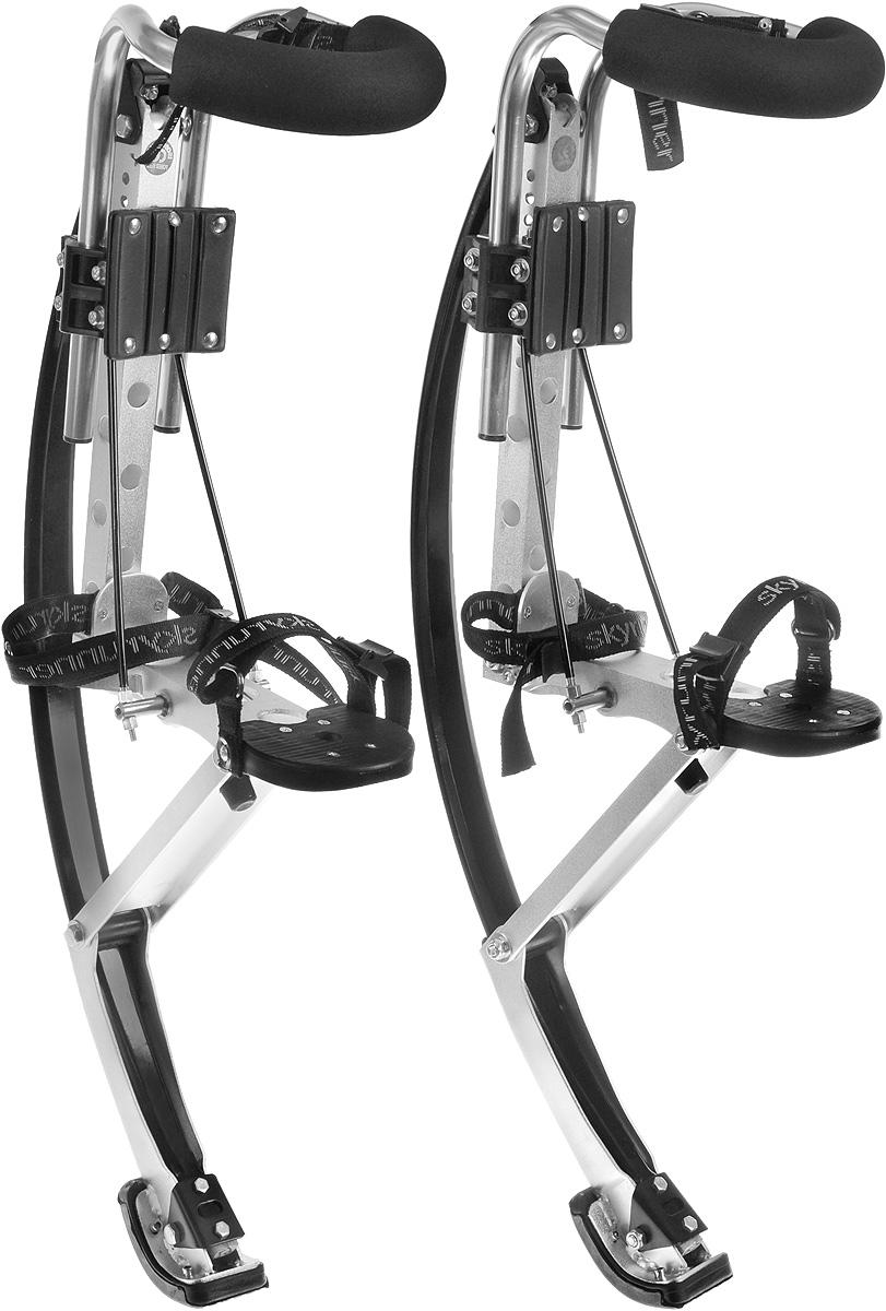 Джамперы Skyrunner, 70-90 кг1949Джамперы Skyrunner отлично подойдут тем, кто собирается всерьез заняться освоением бокинга. Легкий прочный металлический корпус выдерживает большие нагрузки. Продуманное крепление - надежную фиксацию ноги и свободу движений. Вы сможете без труда регулировать крепление по размеру, быстро застегивать и расстегивать его по необходимости. Джамперы имеют простую и удобную конструкцию, хорошее сцепление с асфальтом. В комплект входят наколенники, напульсники и защита голени. Высота джамперов: 86 см. Выдерживаемая нагрузка: 70-90 кг.