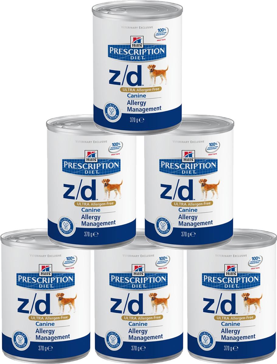 Консервы для собак Hills Z/D, диетические, для лечения острых пищевых аллергий, 370 г х 6 шт8018Консервы для собак Hills Z/D - полноценный диетический рацион для снижения непереносимости компонентов пищи у собак. Содержит специально отобранные источники углеводов и высокогидролизованного белка. Ключевые преимущества: - Помогает минимизировать аллергическую реакцию на пищу. Уникальная рецептура с гидролизованным белком обеспечивает безопасное решение для проблем с пищевой аллергической реакцией. - Единственный источник протеина - гидролизованный белок курицы. - Способствует питанию кожи и шерсти за счет высокого содержания незаменимых жирных кислот. Рекомендации по кормлению: Продолжительность диетотерапии: 3-8 недель; при исчезновении клинических симптомов непереносимости диету можно применять без временных ограничений. Состав: гидролизат куриной печени, кукурузный крахмал, целлюлоза, растительное масло, минералы, DL-метионин, таурин, L-треонин, L-триптофан, витамины и микроэлементы. Энергетическая...