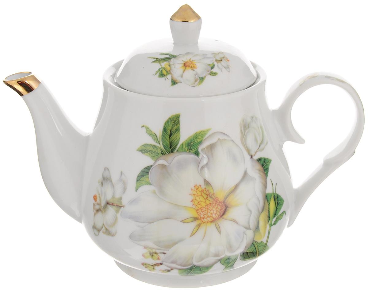 Чайник заварочный Loraine Цветы, с фильтром, 1 л21141Заварочный чайник Loraine Цветы изготовлен из керамики. Чайник декорирован изображением цветов, носик чайника и крышка оформлены золотистой эмалью. Заварочный чайник поможет вам в приготовлении вкусного и ароматного чая, а также станет украшением вашей кухни. Яркий дизайн придает чайнику особый шарм, он удобен в использовании и понравится каждому. Такой заварочный чайник станет приятным и практичным подарком на любой праздник. Чайник упакован в подарочную коробку. Диаметр по верхнему краю: 10 см. Высота с учетом крышки: 16,5 см. Высота фильтра: 5 см.