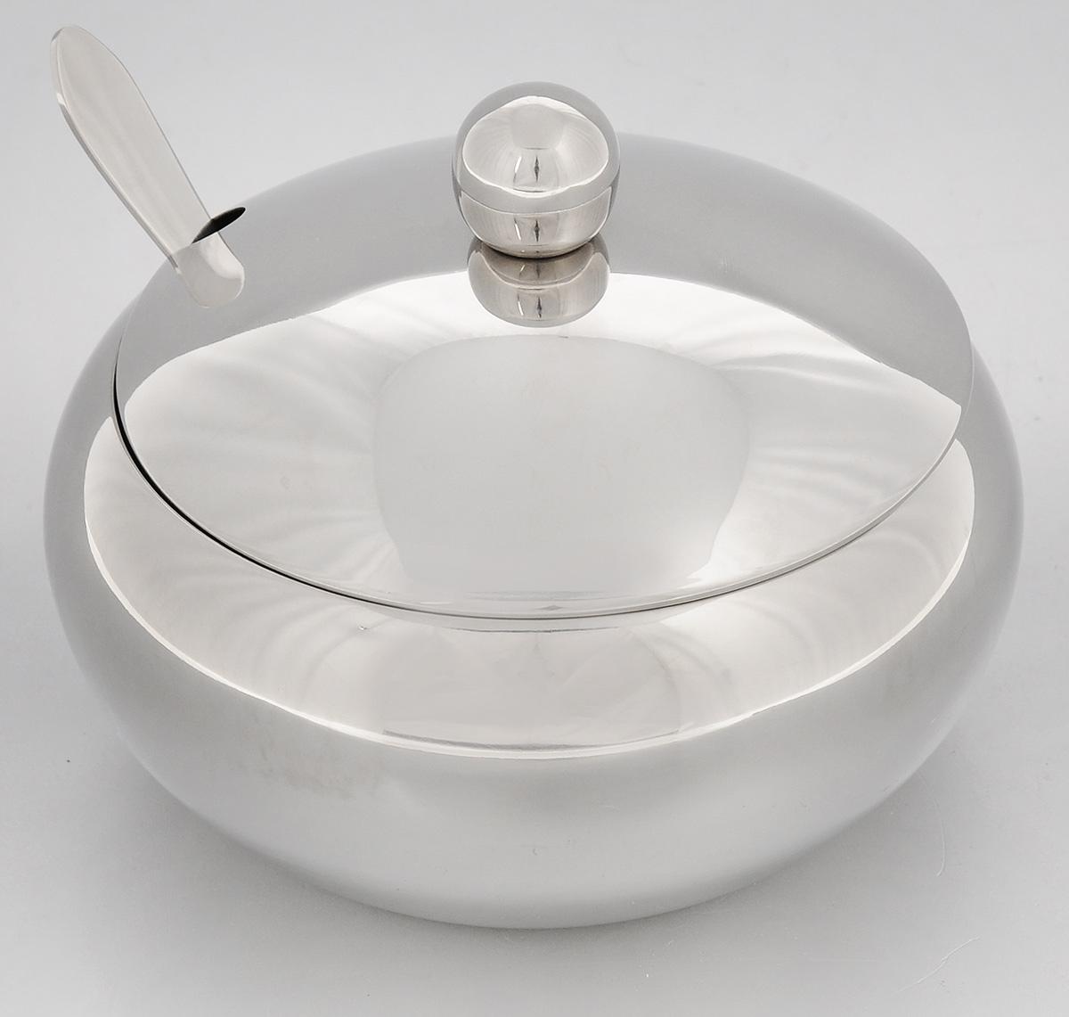 Сахарница Mayer & Boch, с ложкой, 560 мл. 28242824Сахарница Mayer & Boch изготовлена из высококачественной нержавеющей стали 18/10 с зеркальной полировкой. Изделие снабжено крышкой и ложкой. Сахарница стильного современного дизайна прекрасно впишется в интерьер вашей кухни. Диаметр по верхнему краю: 11 см. Высота (без учета крышки): 6,5 см. Длина ложки: 13,5 см.