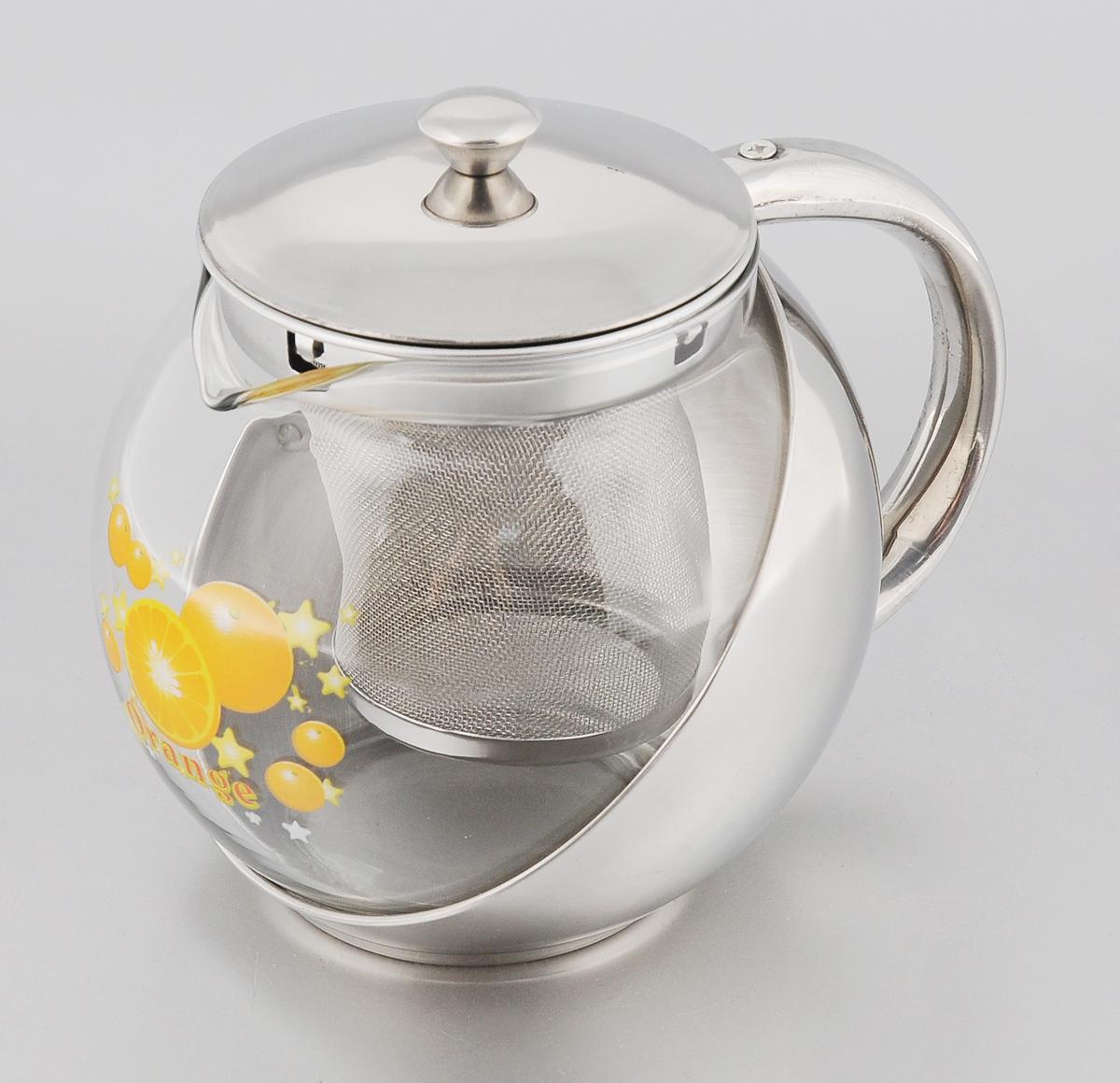 Чайник заварочный Mayer & Boch Orange, 700 мл2025Заварочный чайник Mayer & Boch Orange позволит быстро и просто приготовить свежий и ароматный чай или кофе. Съемный фильтр из нержавеющей стали поможет приготовить чистый напиток без частиц заварки, а прозрачные стенки стеклянной колбы позволят наблюдать за приготовлением напитка. Изящный и современный стиль чайника прекрасно подчеркнет декор любой кухни. Диаметр (по верхнему краю): 8 см. Высота: 11 см.