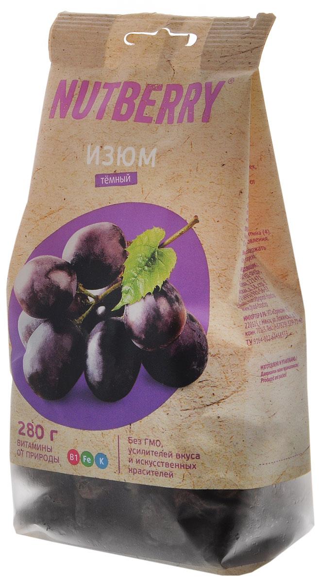 Nutberry изюм темный, 280 г4620000676201Темный изюм – это вкусный и питательный продукт, обладающий полезными свойствами, заложенными самой природой. Самый вкусный, по мнению ценителей этого продукта, темный изюм сорта Томпсон Джамбо. Он отличается крупным калибром, нежной консистенцией и мягким вкусом.