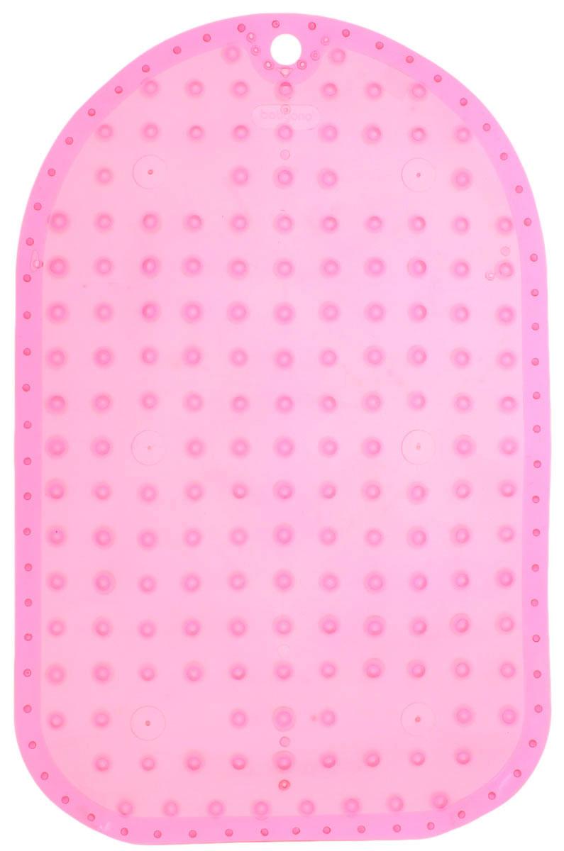 BabyOno Коврик противоскользящий для ванной цвет розовый 55 х 35 см1345_розовыйКоврик противоскользящий для ванной BabyOno предназначен для детских ванночек, ванн и душевых кабин. Имеет присоски, исключающие перемещение коврика по поверхности. Для правильного закрепления коврика следует сначала наполнить ванну водой, а затем вложить коврик и равномерно прижать с каждой стороны. Во время купания ребенок должен находиться под постоянным присмотром взрослого. Перед первым и после каждого купания коврик следует промыть в теплой воде с добавлением детского мыла, ополоснуть и высушить. Изделие не является игрушкой. Хранить в месте, недоступном для детей. Не содержит фталатов. Товар сертифицирован.