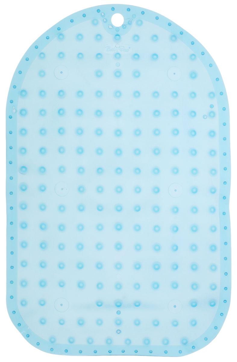 BabyOno Коврик противоскользящий для ванной цвет голубой 55 х 35 см1345_голубойКоврик противоскользящий для ванной BabyOno предназначен для детских ванночек, ванн и душевых кабин. Имеет присоски, исключающие перемещение коврика по поверхности. Для правильного закрепления коврика следует сначала наполнить ванну водой, а затем вложить коврик и равномерно прижать с каждой стороны. Во время купания ребенок должен находиться под постоянным присмотром взрослого. Перед первым и после каждого купания коврик следует промыть в теплой воде с добавлением детского мыла, ополоснуть и высушить. Изделие не является игрушкой. Хранить в месте, недоступном для детей. Не содержит фталатов. Товар сертифицирован.