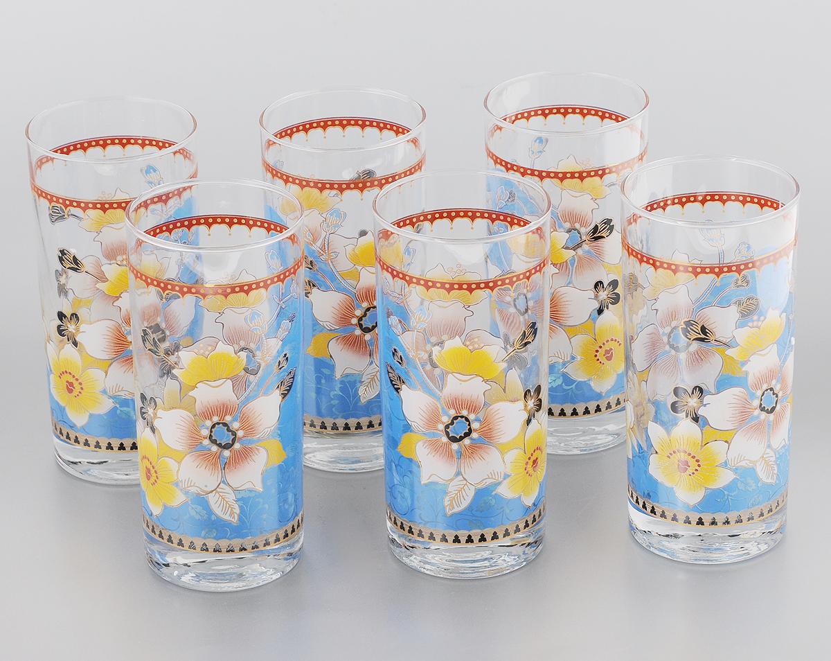 Набор стаканов Loraine, 370 мл, 6 шт. 2407524075Набор Loraine состоит из 6 стаканов, выполненных из высококачественного стекла. Изделия декорированы изысканным цветочным рисунком. Благодаря такому набору пить напитки будет еще вкуснее. Набор стаканов Loraine станет также отличным подарком на любой праздник. Подходит для горячих и холодных напитков. Не рекомендуется мыть в посудомоечной машине. Диаметр стакана (по верхнему краю): 6,5 см. Высота стакана: 14,5 см.
