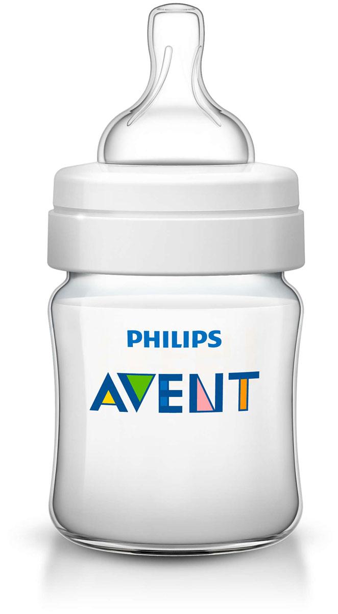 Philips Avent Бутылочка 125 мл, 1 шт. Соска с потоком для новорожденного SCF560/17