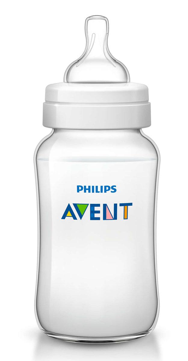 Philips Avent Бутылочка 330 мл, 1 шт. Соска со средним потоком для детей от 3 месяцев SCF566/17