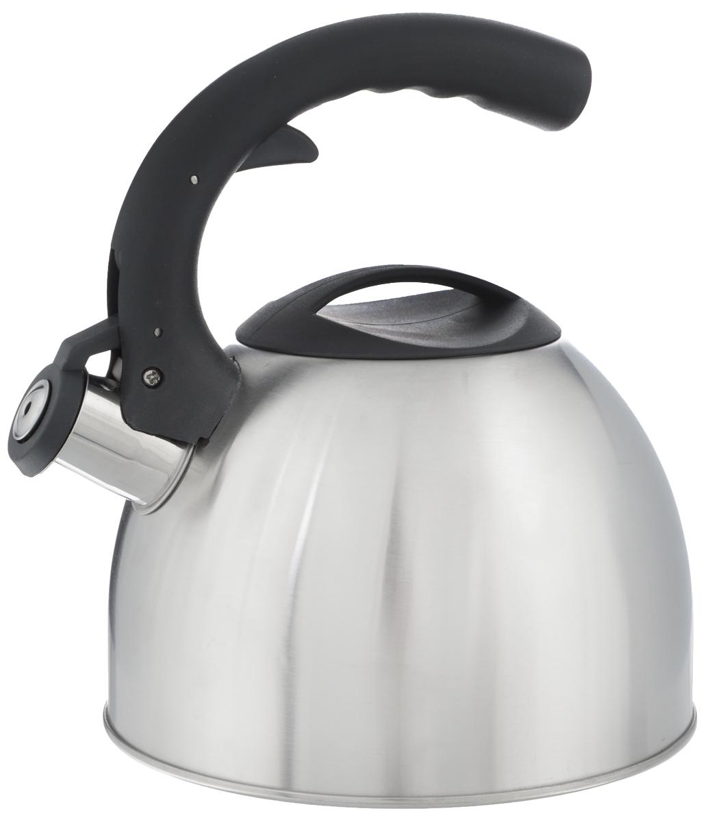 Чайник Mayer & Boch, со свистком, 2,5 л. 2319423194Чайник Mayer & Boch изготовлен из высококачественной нержавеющей стали с матовой полировкой, что делает его весьма гигиеничным и устойчивым к износу при длительном использовании. Нержавеющая сталь обладает высокой устойчивостью к коррозии, не окисляется и не впитывает запахи, благодаря чему вы всегда получите натуральный, насыщенный вкус и аромат напитков. Особая конструкция дна способствует высокой теплопроводности и равномерному распределению тепла. Чайник оснащен фиксированной нейлоновой ручкой, на которой расположена клавиша механизма открывания носика. Носик чайника имеет откидной свисток, звуковой сигнал которого подскажет, когда закипит вода. Эстетичный и функциональный, с современным дизайном, чайник будет оригинально смотреться на любой кухне. Подходит для использования на всех типах плит, кроме индукционных. Пригоден для мытья в посудомоечной машине. Диаметр (по верхнему краю): 10 см. Высота...