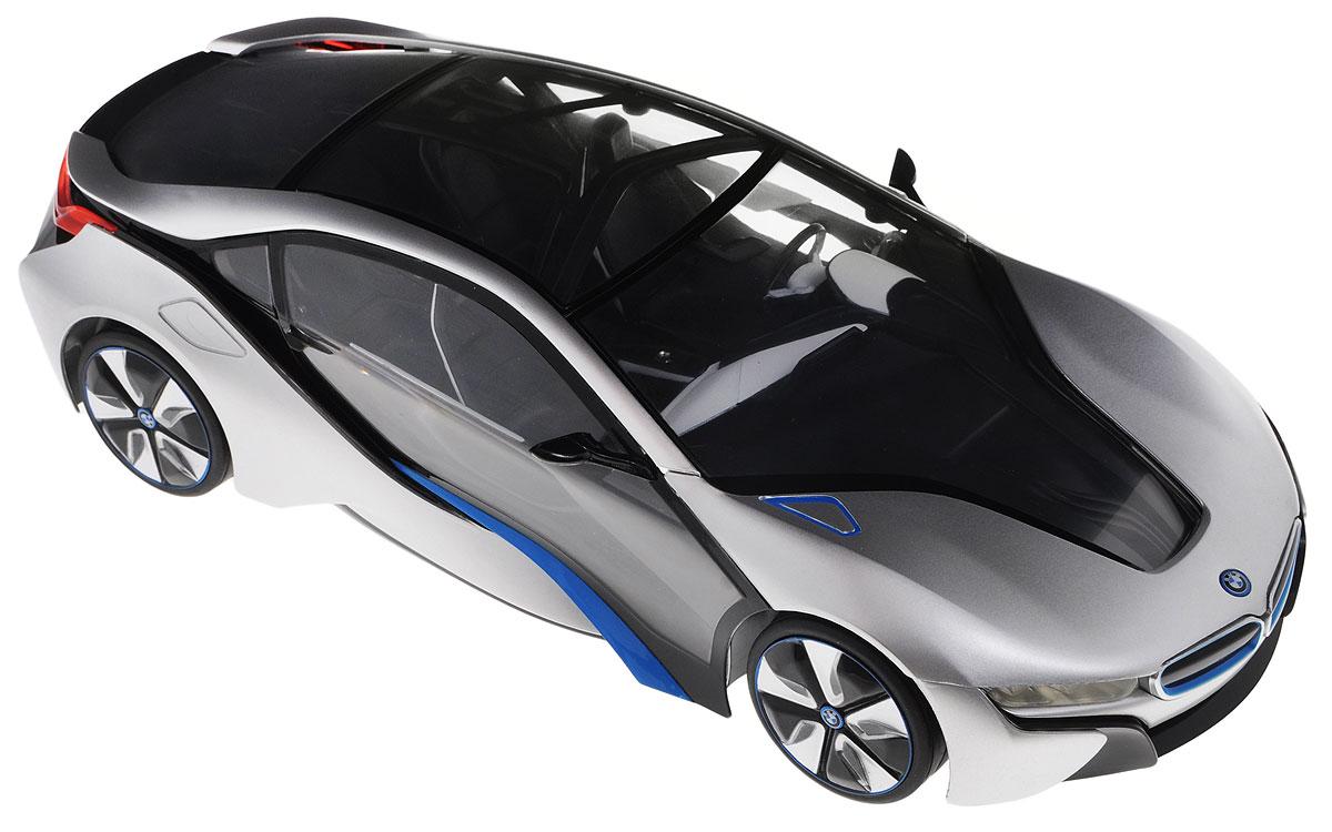 Rastar Радиоуправляемая модель BMW i8 цвет серебристый черный синий 49600_серый