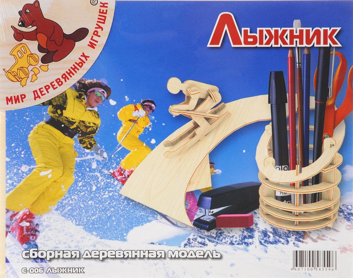 Мир деревянных игрушек Сборная деревянная модель Лыжник