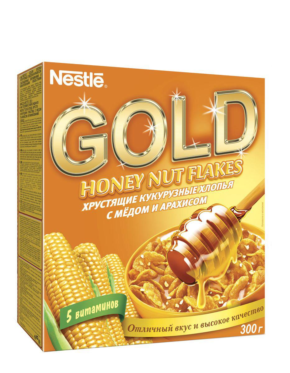 Nestle Gold Honey Nut Flakes готовый завтрак, 300 г
