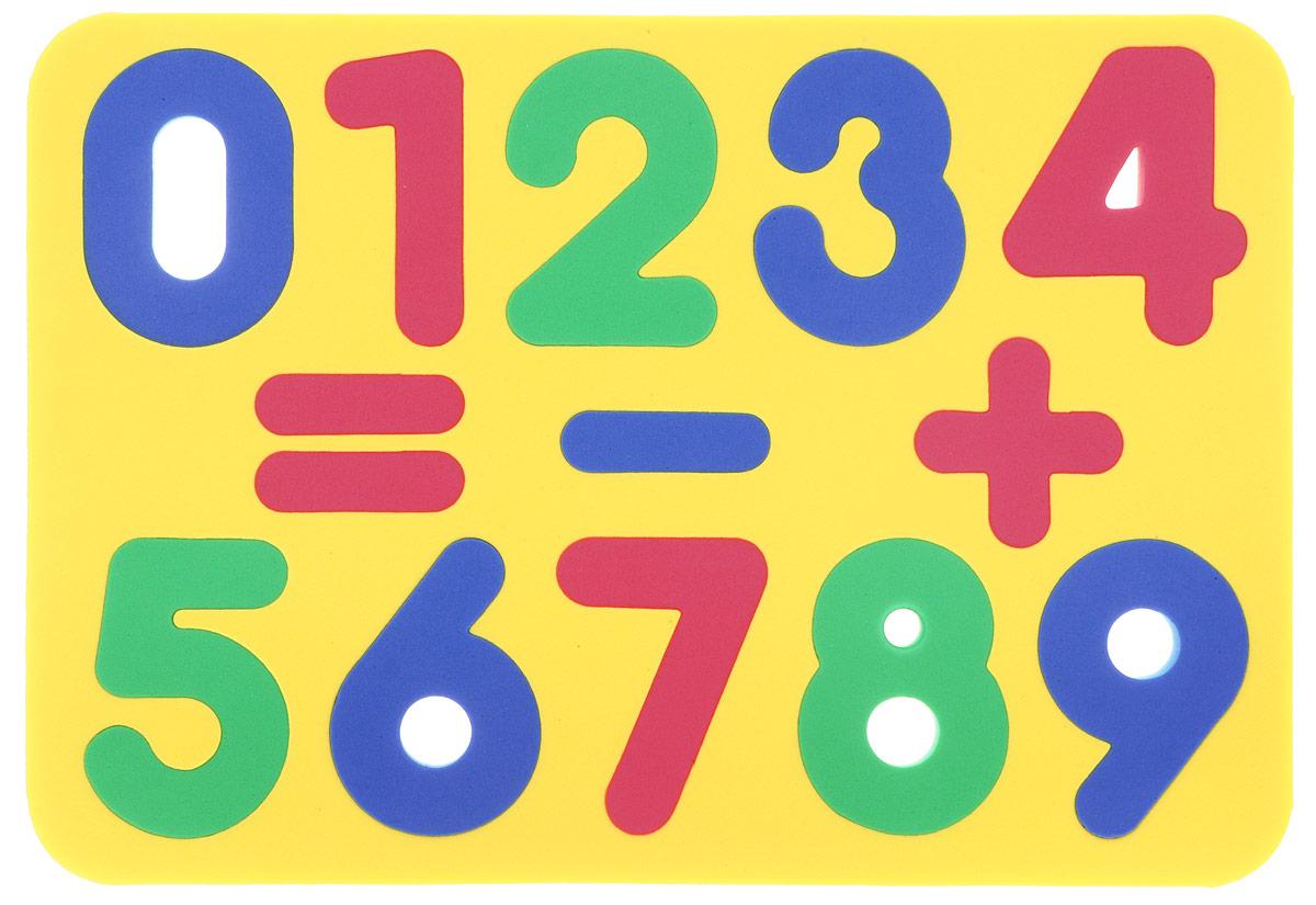 Бомик Пазл для малышей Цифры цвет основы желтый204_желтыйМягкий пазл для малышей Бомик Цифры выполнен в виде рамки, на которой расположены разноцветные цифры от 0 до 9 и три математических знака. Пазл изготовлен из мягкого, прочного материала, вспененного этиленвинилацетата, который обеспечивает большую долговечность и является абсолютно безопасным для детей. Мягкий пазл для малышей Бомик Цифры развивает у ребенка моторику, цветовое восприятие, знакомит с цифрами и учит решать простейшие математические примеры. Обучение происходит прямо во время игры!