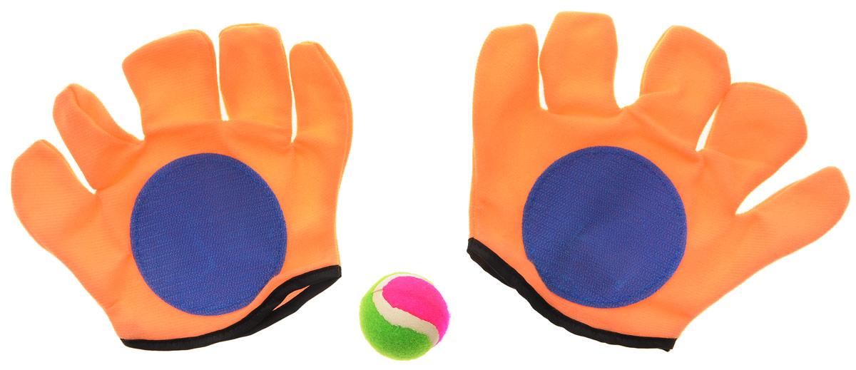 YG Sport Игровой набор Мячеловка цвет оранжевый синийYG13IИгровой набор YG Sport Мячеловка обязательно привлечет внимание вашего непоседы! В набор входят две перчатки-липучки и мяч. Перчатки созданы специально для более удобного захватывания мячика: на обозначенной поверхности имеются специальные липучки, которые крепко цепляются за мяч и не дают ему упасть. Набор поможет вам весело и с пользой для здоровья провести время на свежем воздухе. Теперь развивать свою ловкость и меткость стало еще проще!