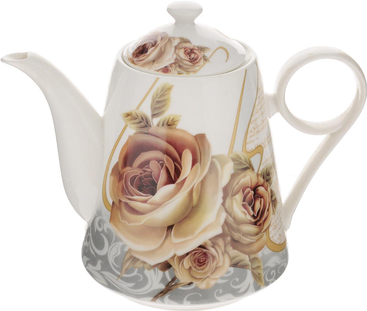Чайник заварочный Loraine, 1,25 л. 2297722977Заварочный чайник Loraine, изготовленный из высококачественного костяного фарфора с глазурованным покрытием, оснащен удобной ручкой и крышкой. Изделие прекрасно подходит для заваривания ароматного чая, травяных настоев и многого другого. Цветочный рисунок придает чайнику особый шарм. Он удобен в использование и понравится каждому. Заварочный чайник Loraine станет приятным и практичным подарком на любой праздник. Диаметр чайника (по верхнему краю): 8 см. Диаметр основания: 10 см. Высота чайника (без учета крышки): 15 см. Высота чайника (с учетом крышки): 18,5 см.