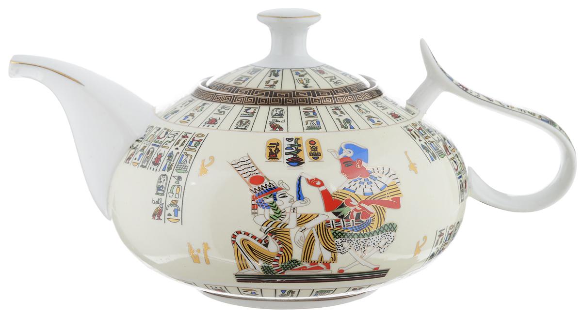 Чайник заварочный Loraine Египет, с фильтром, 1 л21148Заварочный чайник Loraine Египет изготовлен из высококачественной керамики и дополнен металлическим фильтром. Он имеет изящную форму и декорирован оригинальным рисунком. Чайник сочетает в себе стильный дизайн с максимальной функциональностью. Красочность оформления придется по вкусу и ценителям классики, и тем, кто предпочитает утонченность и изысканность. Чайник упакован в подарочную коробку из плотного картона. Высота чайника (без учета крышки и ручки): 9,5 см. Диаметр (по верхнему краю): 8 см. Высота чайника (с учетом крышки): 12,5 см. Высота фильтра: 5 см.