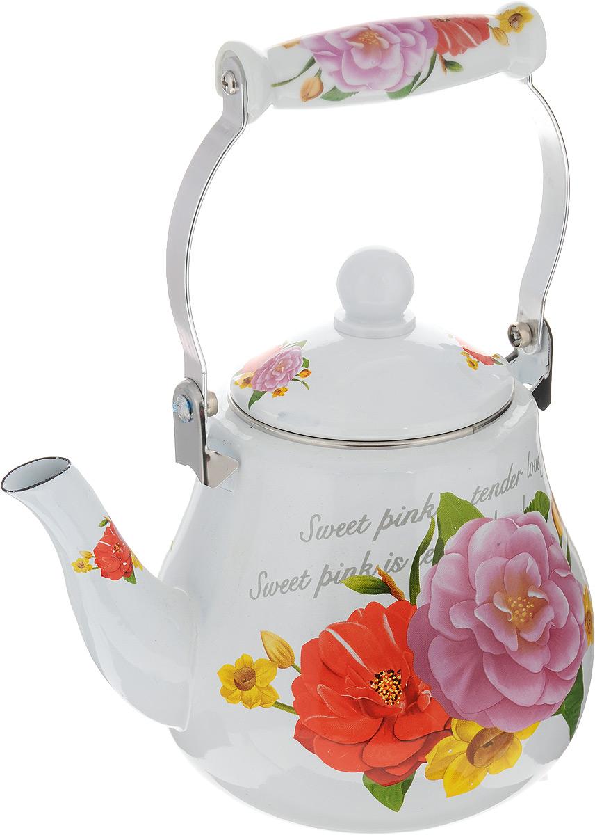 Чайник эмалированный Mayer & Boch, 2,5 л23993Чайник изготовлен из высококачественной углеродистой стали с эмалированным покрытием. Такой чайник гигиеничен и устойчив к износу при длительном использовании. Изделие украшено ярким рисунком с изображением цветов. Подвижная ручка с керамической вставкой не нагревается во время кипячения, делает чайник компактным и удобным в эксплуатации. При кипячении чайник сохраняет все полезные вещества воды. Изделие подходит для всех видов плит, включая индукционные. Можно мыть в посудомоечной машине. Высота чайника (без учета ручки и крышки): 15 см. Высота чайника (с учетом ручки и крышки): 28 см. Диаметр (по верхнему краю): 10 см.