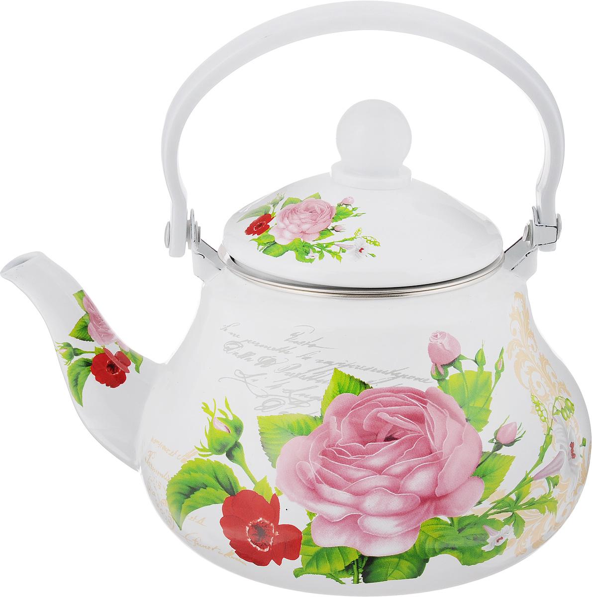 Чайник заварочный Mayer & Boch Розы, эмалированный, 1,5 л23982Заварочный чайник Mayer & Boch Роза изготовлен из высококачественной углеродистой стали с эмалированным покрытием. Такое покрытие защищает сталь от коррозии, придает посуде гладкую стекловидную поверхность и надежно защищает от кислот и щелочей. Изделие прекрасно подходит для заваривания вкусного и ароматного чая, травяных настоев. Чайник оснащен сетчатым фильтром, который задерживает чаинки и предотвращает их попадание в чашку. Оригинальный дизайн сделает чайник настоящим украшением стола. Он удобен в использовании и понравится каждому. Подходит для использования на газовых, стеклокерамических, электрических, галогеновых и индукционных плитах. Можно мыть в посудомоечной машине. Диаметр чайника (по верхнему краю): 9,8 см. Высота чайника (без учета крышки): 10,7 см. Толщина стенок: 0,8 мм.