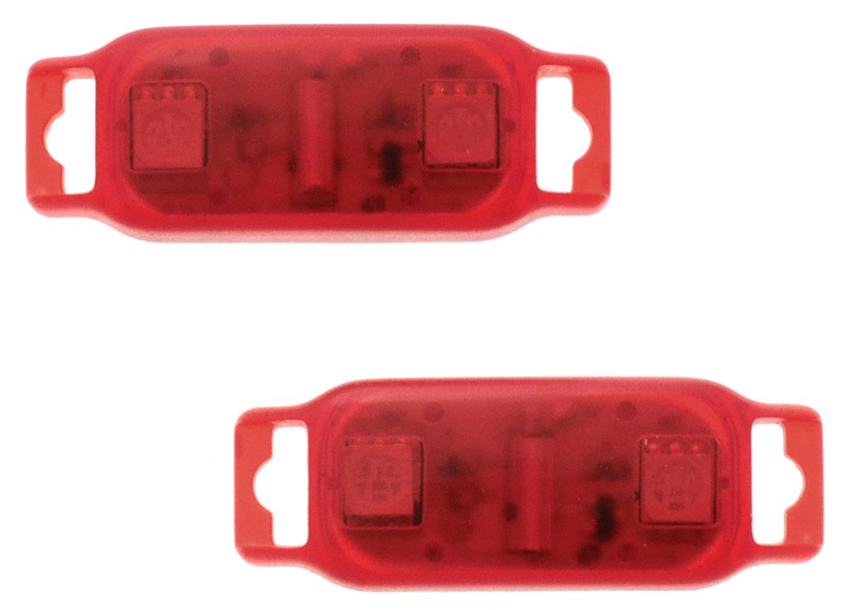 Partymania Светодиоды с датчиком движения Shine & Go! цвет красный 2 штТ1301_красныеСветодиоды с датчиком движения Partymania Shine & Go! рекомендуется использовать как светящееся украшение для ботинок, кроссовок, туфель. Shine & Go! - это прекрасное дополнение к вашему празднику. Датчики срабатывают во время движения, заставляя светодиоды включаться на короткое время. Изделие работает от 2 батареек типа CR-1220, установлены и не являются заменяемыми.