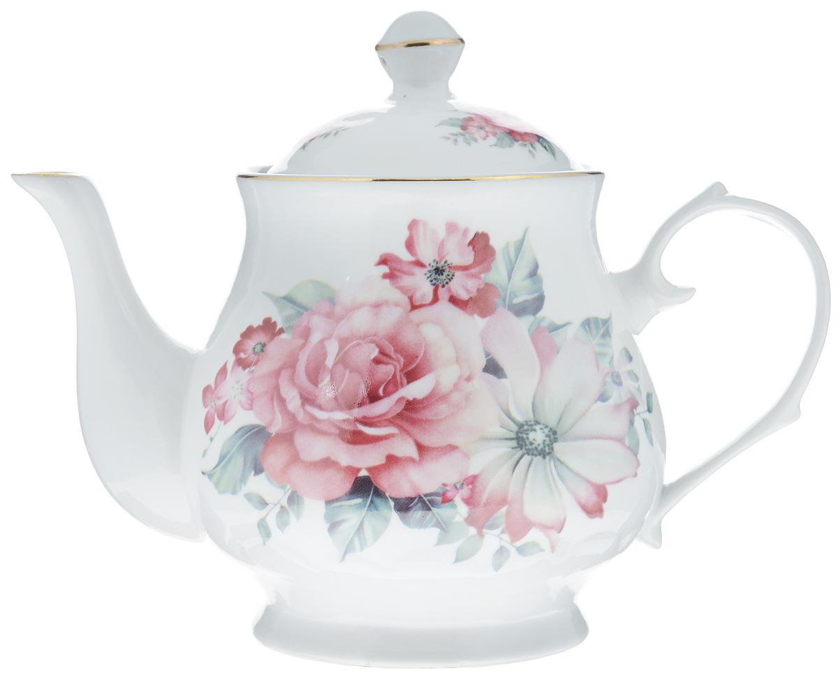 Чайник заварочный Loraine, 800 мл. 2457924579Заварочный чайник Loraine изготовлен из высококачественной керамики. Посуда оформлена ярким рисунком. Такой чайник идеально подойдет для заваривания чая. Он хорошо держит температуру, что способствует более полному раскрытию цвета, аромата и вкуса чайного букета. Чайник оснащен сетчатым фильтром, который задерживает чаинки и предотвращает их попадание в чашку. Изделие прекрасно дополнит сервировку стола к чаепитию и станет его неизменным атрибутом. Диаметр (по верхнему краю): 6,5 см. Диаметр основания: 8 см. Высота чайника (без учета крышки): 12 см.