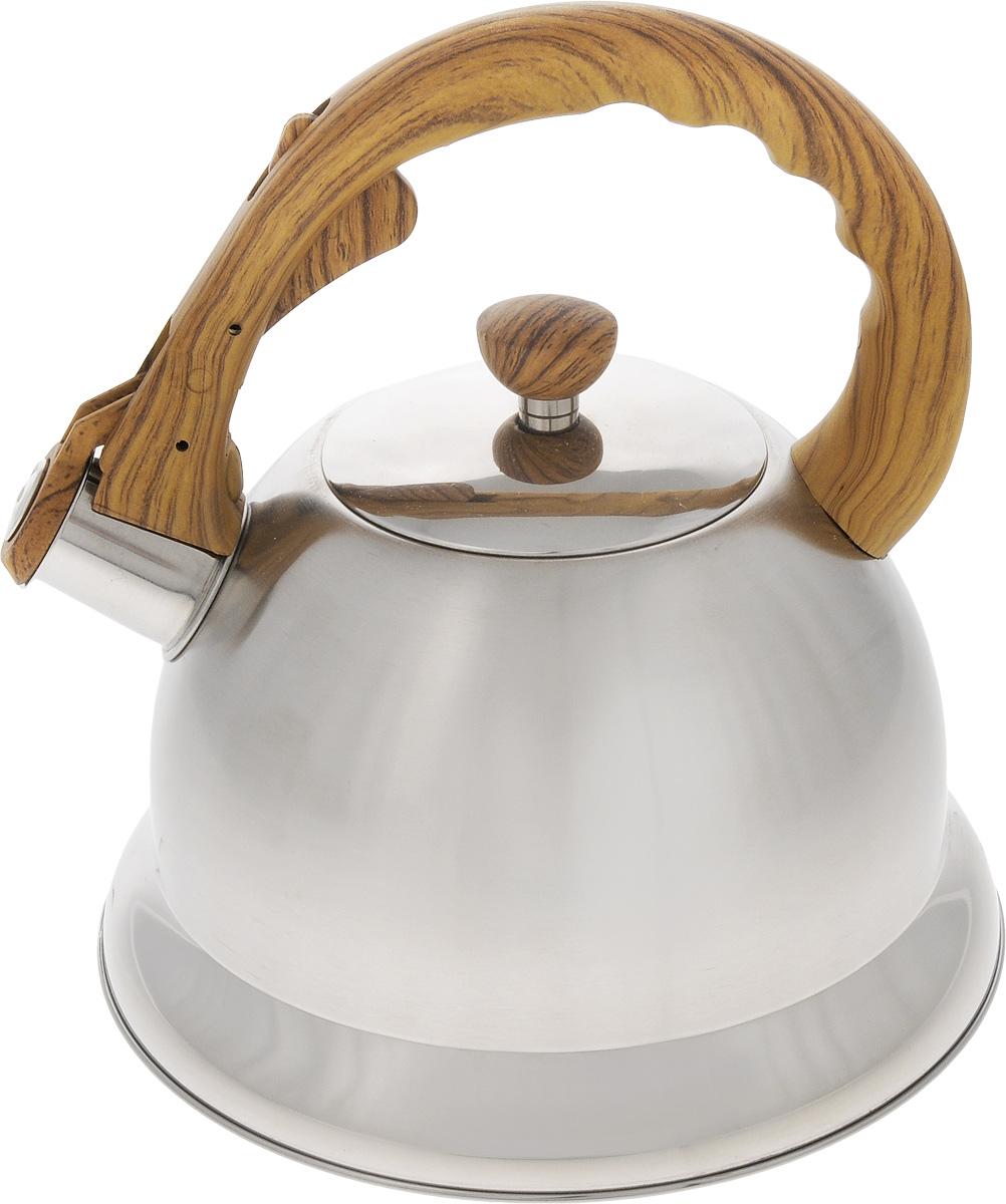 Чайник Mayer & Boch, со свистком, 3,2 л. 45324532Металлический чайник Mayer & Boch прочен, красив и прослужит вам много лет. Он выполнен из высококачественной нержавеющей стали, которая не окисляется и не впитывает запахи, напитки всегда будут ароматны. Корпус с зеркальной поверхностью. Фиксированная ручка из нейлона, выполненная под дерево, снабжена клавишей для открывания носика, что делает использование чайника очень удобным и безопасным. Носик снабжен свистком, что позволит вам контролировать процесс подогрева или кипячения воды. Капсулированное дно с прослойкой из алюминия обеспечивает наилучшее распределение тепла. Эстетичный и функциональный, с эксклюзивным дизайном, чайник будет оригинально смотреться в любом интерьере. Можно мыть в посудомоечной машине. Подходит для всех типов плит, включая индукционные. Диаметр чайника (по верхнему краю): 10 см. Высота чайника (без учета крышки и ручки): 13 см. Высота чайника (с учетом ручки): 23 см.