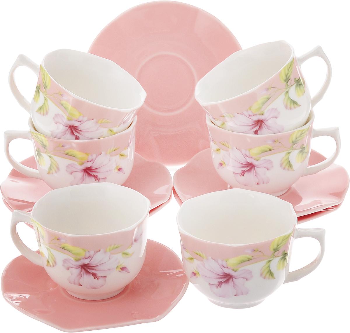 Набор кофейный Loraine Нежность, 12 предметов24725Кофейный набор Loraine Нежность состоит из 6 чашек и 6 блюдец. Изделия выполнены из высококачественной керамики, имеют яркий дизайн и классическую круглую форму. Такой набор прекрасно подойдет как для повседневного использования, так и для праздников. Набор Loraine Нежность - это не только яркий и полезный подарок для родных и близких, но и великолепное дизайнерское решение для вашей кухни или столовой. Диаметр чашки (по верхнему краю): 6 см. Высота чашки: 6 см. Высота чашки: 5 см. Диаметр блюдца (по верхнему краю): 11 см. Высота блюдца: 1 см. Объем чашки: 110 мл. УВАЖАЕМЫЕ КЛИЕНТЫ! Обращаем ваше внимание, что объем чашки измерен по факту, с учетом максимального наполнения до кромки.