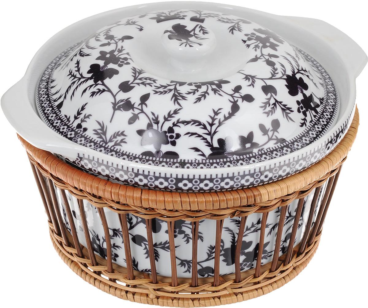 Супница Mayer & Boch с крышкой, с корзиной, 1,8 л24791Супница Mayer & Boch выполнена из фарфора и оснащена плотно прилегающей крышкой. Супница оформлена красивым рисунком и оснащена ручками. Изделие предназначено для красивой подачи супа и сервировки стола. Яркий дизайн, несомненно, придется вам по вкусу. Посуду можно использовать в микроволновой печи, духовке и холодильнике. Можно мыть в посудомоечной машине. Диаметр супницы: 20 см. Высота стенок супницы: 9,5 см. Высота супницы (с учетом крышки): 13 см. Ширина супницы (с учетом ручек): 23,5 см. Объем: 1,8 л.