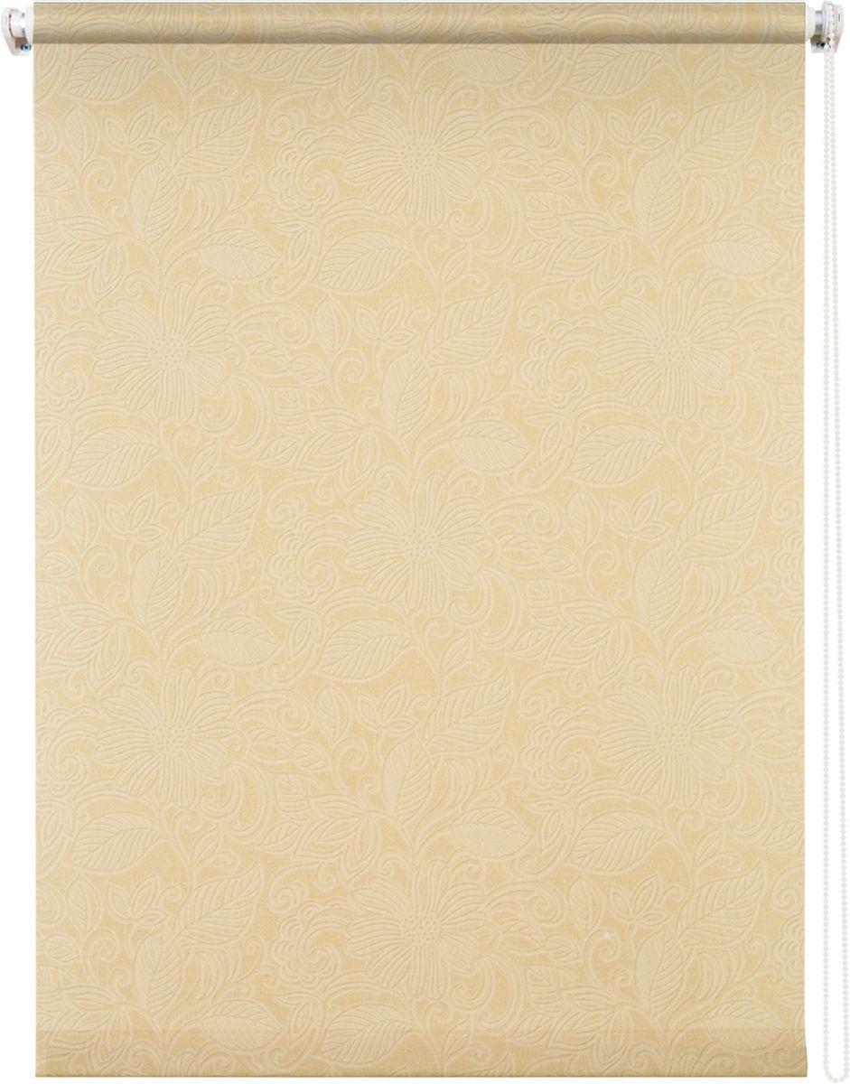 Штора рулонная Уют Ажур, цвет: бежевый, 100 х 175 см62.РШТО.8963.100х175Штора рулонная Уют Ажур выполнена из прочного полиэстера с обработкой специальным составом, отталкивающим пыль. Ткань не выцветает, обладает отличной цветоустойчивостью и светонепроницаемостью. Штора закрывает не весь оконный проем, а непосредственно само стекло и может фиксироваться в любом положении. Она быстро убирается и надежно защищает от посторонних взглядов. Компактность помогает сэкономить пространство. Универсальная конструкция позволяет крепить штору на раму без сверления, также можно монтировать на стену, потолок, створки, в проем, ниши, на деревянные или пластиковые рамы. В комплект входят регулируемые установочные кронштейны и набор для боковой фиксации шторы. Возможна установка с управлением цепочкой как справа, так и слева. Изделие при желании можно самостоятельно уменьшить. Такая штора станет прекрасным элементом декора окна и гармонично впишется в интерьер любого помещения.