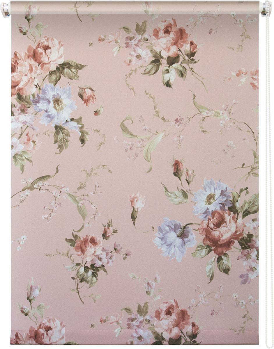 Штора рулонная Уют Розарий, цвет: светло-розовый, 100 х 175 см62.РШТО.8959.100х175Штора рулонная Уют Розарий выполнена из прочного полиэстера с обработкой специальным составом, отталкивающим пыль. Ткань не выцветает, обладает отличной цветоустойчивостью и хорошей светонепроницаемостью. Изделие оформлено нежным цветочным рисунком, отлично подойдет для спальни, гостиной, кухни или столовой. Штора закрывает не весь оконный проем, а непосредственно само стекло и может фиксироваться в любом положении. Она быстро убирается и надежно защищает от посторонних взглядов. Компактность помогает сэкономить пространство. Универсальная конструкция позволяет крепить штору на раму без сверления, также можно монтировать на стену, потолок, створки, в проем, ниши, на деревянные или пластиковые рамы. В комплект входят регулируемые установочные кронштейны и набор для боковой фиксации шторы. Возможна установка с управлением цепочкой как справа, так и слева. Изделие при желании можно самостоятельно уменьшить. Такая штора станет прекрасным элементом декора окна и...