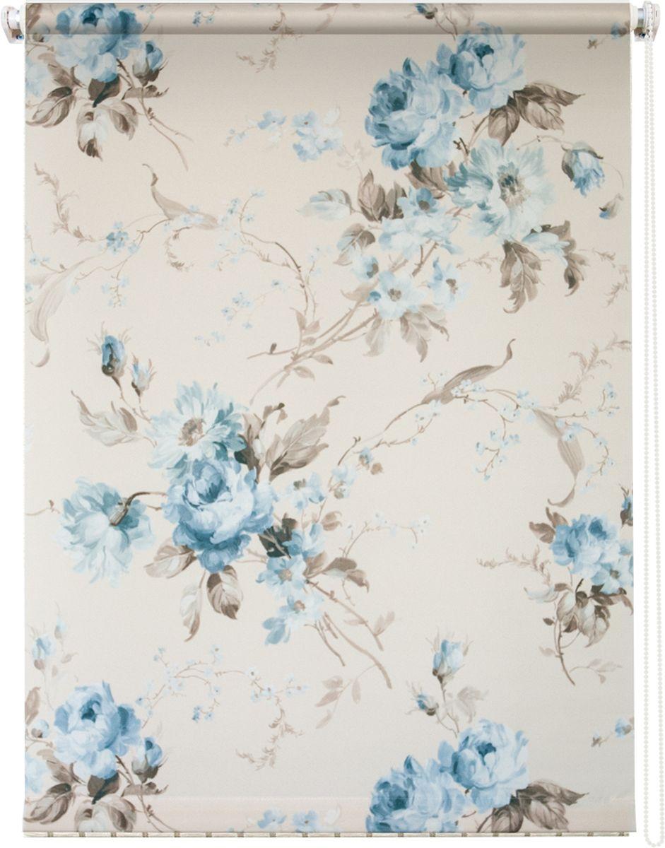 Штора рулонная Уют Розарий, цвет: белый, голубой, 90 х 175 см62.РШТО.8956.090х175Штора рулонная Уют Розарий выполнена из прочного полиэстера с обработкой специальным составом, отталкивающим пыль. Ткань не выцветает, обладает отличной цветоустойчивостью и хорошей светонепроницаемостью. Изделие оформлено нежным цветочным рисунком, отлично подойдет для спальни, гостиной, кухни или столовой. Штора закрывает не весь оконный проем, а непосредственно само стекло и может фиксироваться в любом положении. Она быстро убирается и надежно защищает от посторонних взглядов. Компактность помогает сэкономить пространство. Универсальная конструкция позволяет крепить штору на раму без сверления, также можно монтировать на стену, потолок, створки, в проем, ниши, на деревянные или пластиковые рамы. В комплект входят регулируемые установочные кронштейны и набор для боковой фиксации шторы. Возможна установка с управлением цепочкой как справа, так и слева. Изделие при желании можно самостоятельно уменьшить. Такая штора станет прекрасным элементом декора окна и...