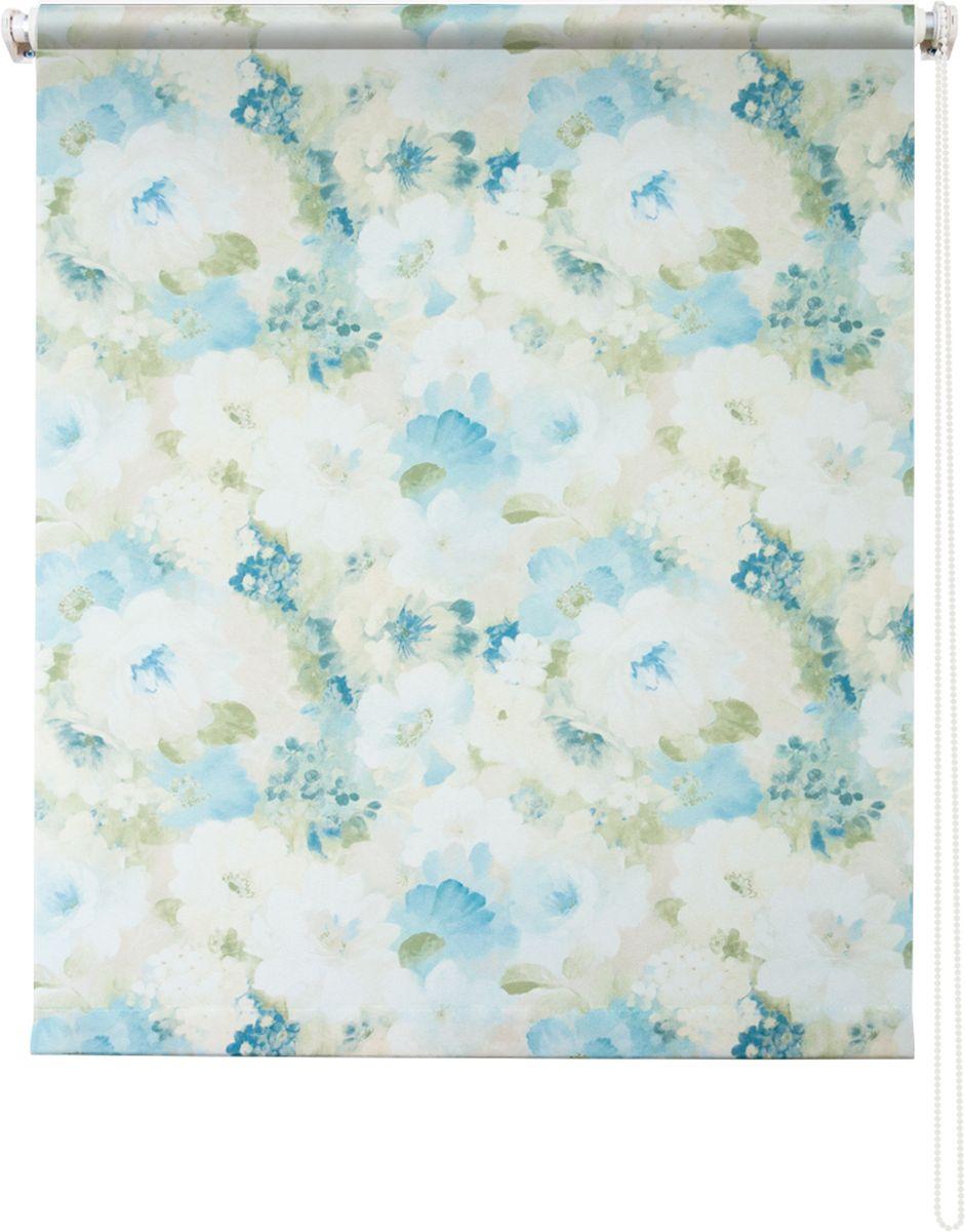 Штора рулонная Уют Пионы, цвет: голубой, 50 х 175 см62.РШТО.8941.050х175• Защита от посторонних взглядов. • Фиксация в любом положении. • Крепеж: Универсальный (к потолку, к раме, к стене).