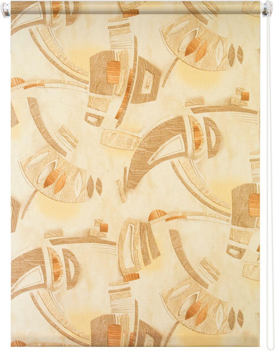 Штора рулонная Уют Петра, цвет: коричневый, 50 х 175 см62.РШТО.8973.050х175• Защита от посторонних взглядов. • Фиксация в любом положении. • Крепеж: Универсальный (к потолку, к раме, к стене).