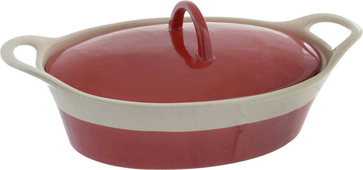 Кастрюля керамическая Mayer & Boch с крышкой, цвет: красный, бежевый, 1,7 л21802Кастрюля-жаровня Mayer & Boch изготовлена из жаропрочной керамики с покрытием глазурью. Пища, приготовленная в керамической посуде, сохраняет свои вкусовые качества и не может нанести вред здоровью человека, благодаря экологической чистоте материала. Керамика - один из самых лучших материалов, который удерживает тепло, медленно и равномерно его распределяет. Посуда имеет прочные стенки и дно, однородные по толщине, благодаря чему нагрев происходит быстро и равномерно. Удобные, направленные вверх ручки помогут вам без труда переставить изделие. Такая кастрюля подходит для запекания, тушения и варки разнообразных блюд. Посуда не впитывает посторонние запахи, не имеет труднодоступных выступов или изгибов, которые накапливают грязь, и легко чистится. Жаропрочная керамика выдерживает температуру от -20°С до 400°С, поэтому такую кастрюлю можно использовать в духовке, микроволновой и конвекционной печи, а также для хранения продуктов в холодильнике и...
