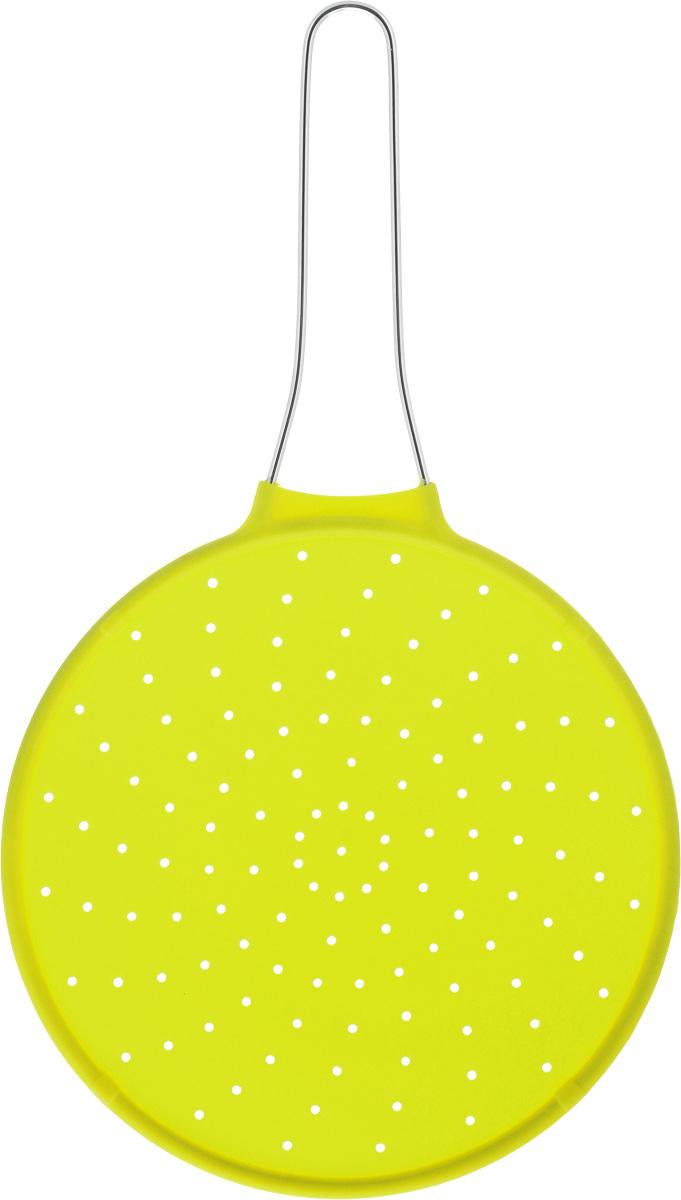 Экран от брызг Mayer & Boch, цвет: салатовый, диаметр 24 см4435-2Экран от брызг Mayer & Boch изготовлен из экологически чистого материала - высококачественного силикона. Удобная ручка выполнена из металла. Выдерживает температурный диапазон от - 40 до +210°С. Просто положите экран сверху на посуду с готовящейся пищей, это предотвратит попадание брызг на поверхность плиты, одежду и кухонную мебель. Изделие легко моется и хранится. Простое и удобное использование. Диаметр: 24 см. Длина (с учетом ручки): 42 см.