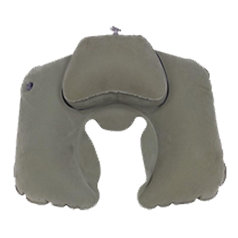 """Подушка надувная Sol под шею """"Комфорт"""", цвет: серый. SLI-012"""