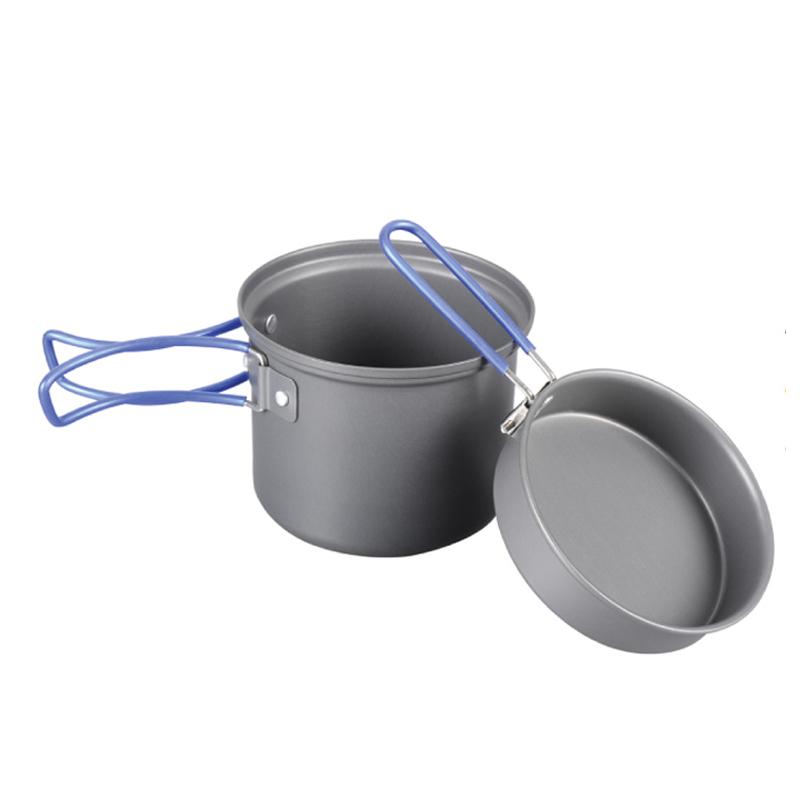 Котелок Tramp с крышкой-сковородой, цвет: серый. TRC-039TRC-039Котелок с крышкой-сковородой из анодированного алюминия Tramp Объем: 1 л Комплект: Котелок 1л со складными ручками Крышка-сковорода со складными ручками Алюминий анодированный