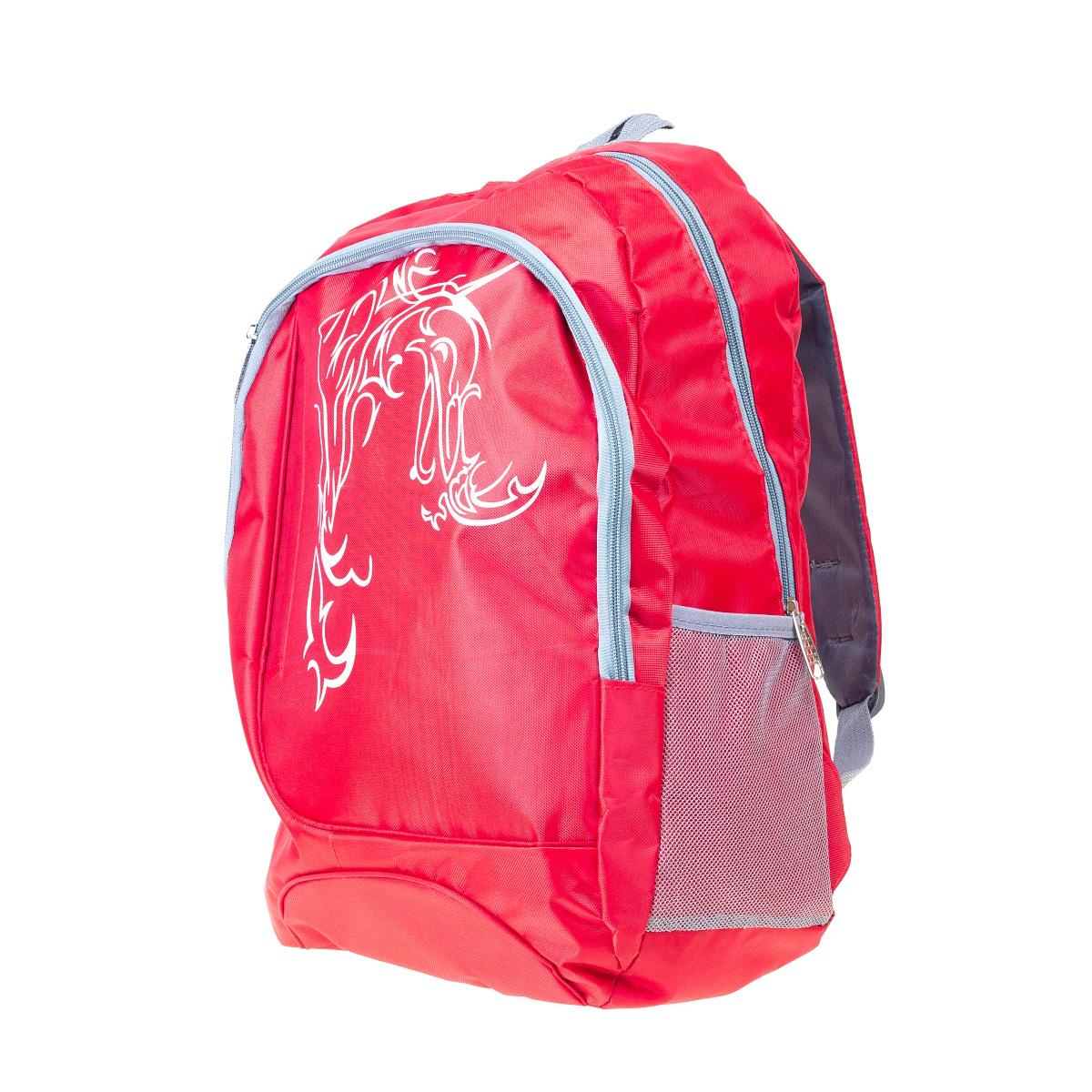 Рюкзак для мальчика HUANGGANG JIAZHI TEXTILE, цвет: красный. 657244-7. Размер 44х30х16 см657244-7