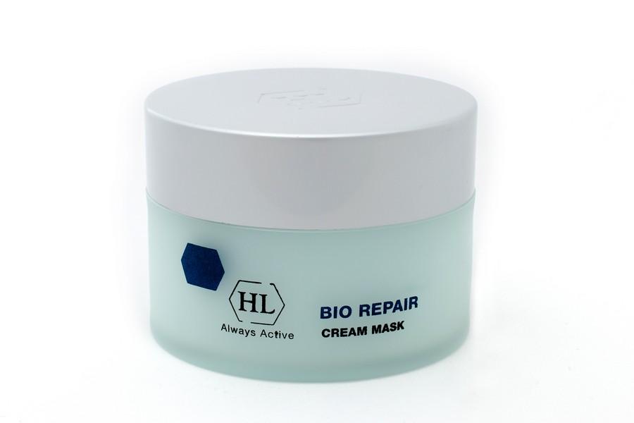 Holy Land Питательная маска Bio Repair Cream Mask 50 мл103087Интенсивная питательная крем-маска. Действие:Питательное, восстанавливающее, отбеливающее и подтягивающее действие. Смягчает кожу и улучшает ее структуру. Разглаживает морщины. Сокращает расширенные капилляры, оказывает антикуперозное действие. В послеоперационном периоде маскирует пятна, покраснения, расширенные капилляры и дисхромии. Активные компоненты: Repair Complex, пчелиный воск (противовоспалительное, ранозаживляющее, смягчающее и увлажняющее действие), лимонная кислота, диоксид титана, гуазулен. Repair Complex запатентованный комплекс растительных экстрактов и масел, обладающий уникальным восстанавливающим и сосудоукрепляющим действием. Гуазулен компонент эфирного масла цветков ромашки. Оказывает регенерирующее, успокаивающее, противовоспалительное и противоаллергическое действие.