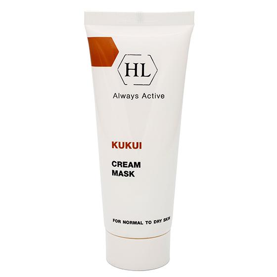 Holy Land Питательная маска Kukui Cream Mask For Dry Skin 70 мл106085Питательная крем-маска для нормальной и сухой кожи, особенно увядающей, обезвоженной и поврежденной. Действие:Питает и смягчает кожу, восстанавливает водно-липидную мантию. Предотвращает обезвоживание кожи и образование морщин. Повышает эластичность, выравнивает текстуру кожи, делает ее более гладкой. Предотвращает раздражение, ускоряет заживление микроповреждений кожи. Активные компоненты: Масло ореха кукуи, масло ореха макадамии.
