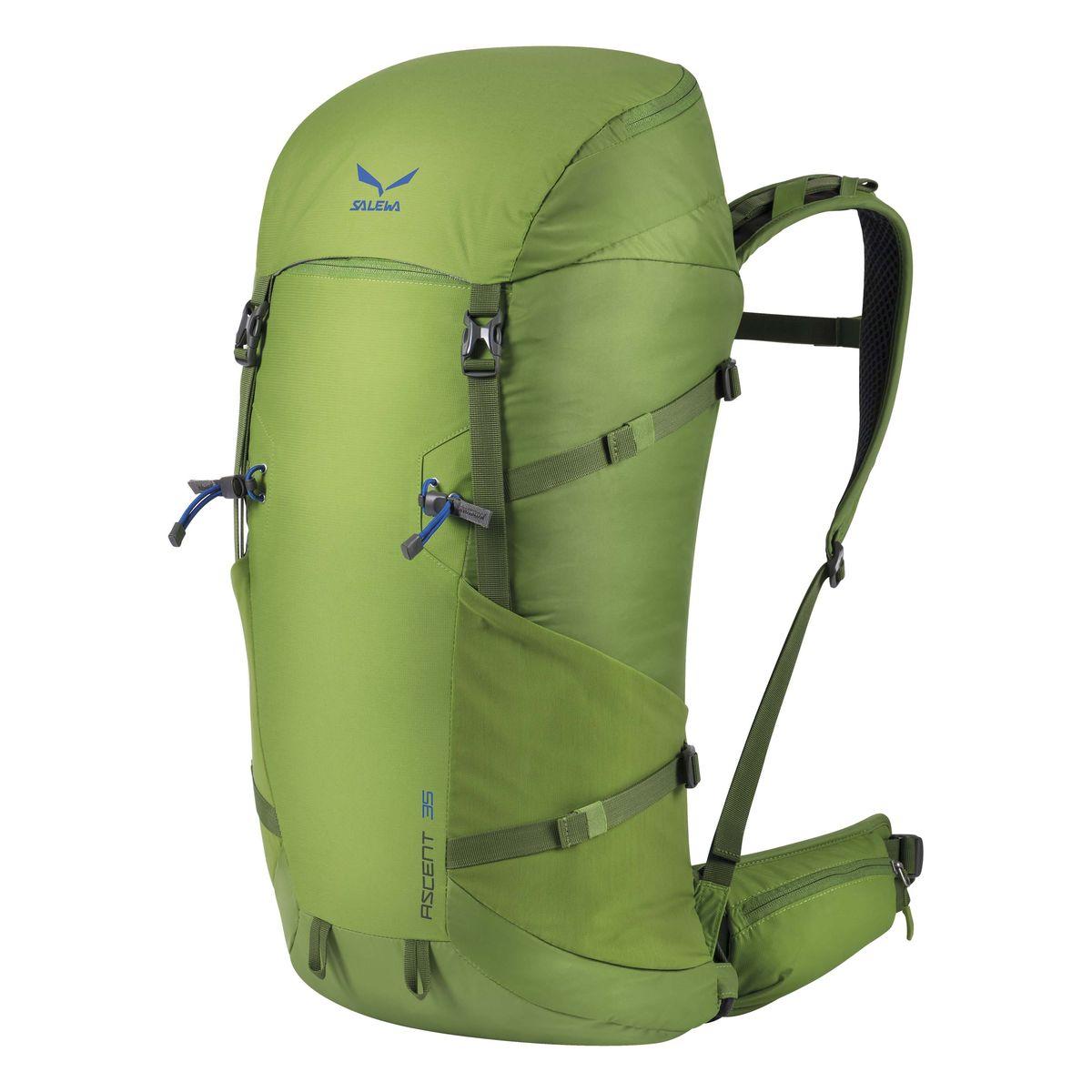 Рюкзак туристический Salewa Ascent 35, цвет: светло-зеленый, 35л1138_5450Новая современная модель рюкзака, который прекрасно подойдет как для однодневных так и для более длительных путешествий. Особенности: - петли для крепления ледоруба / лыжных палок - внутреннее отделение для хранения ценных вещей - боковые карманы - карман в набедренном поясе - петли для навески дополнительного снаряжения на набедренном поясе - подвесная система motionfit